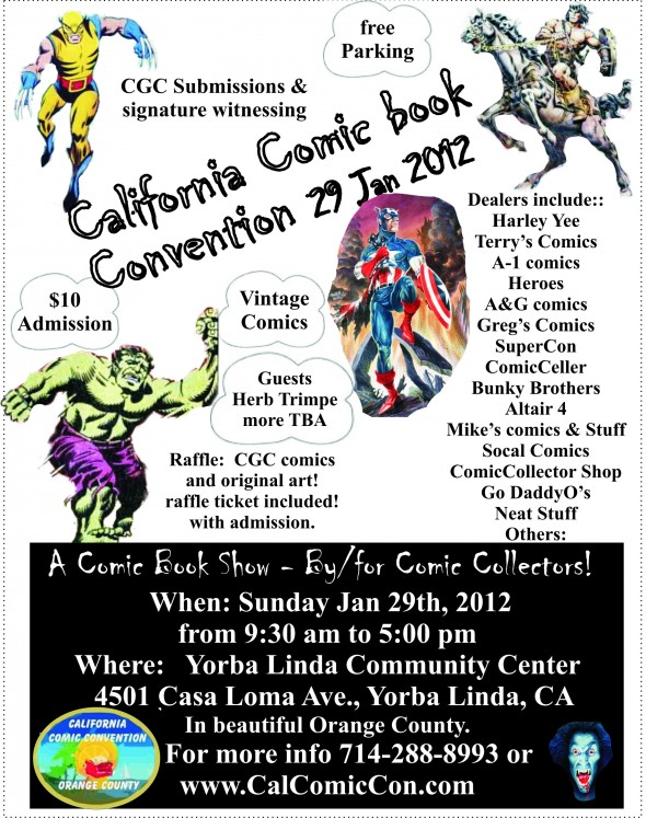CalComicCon Flyer