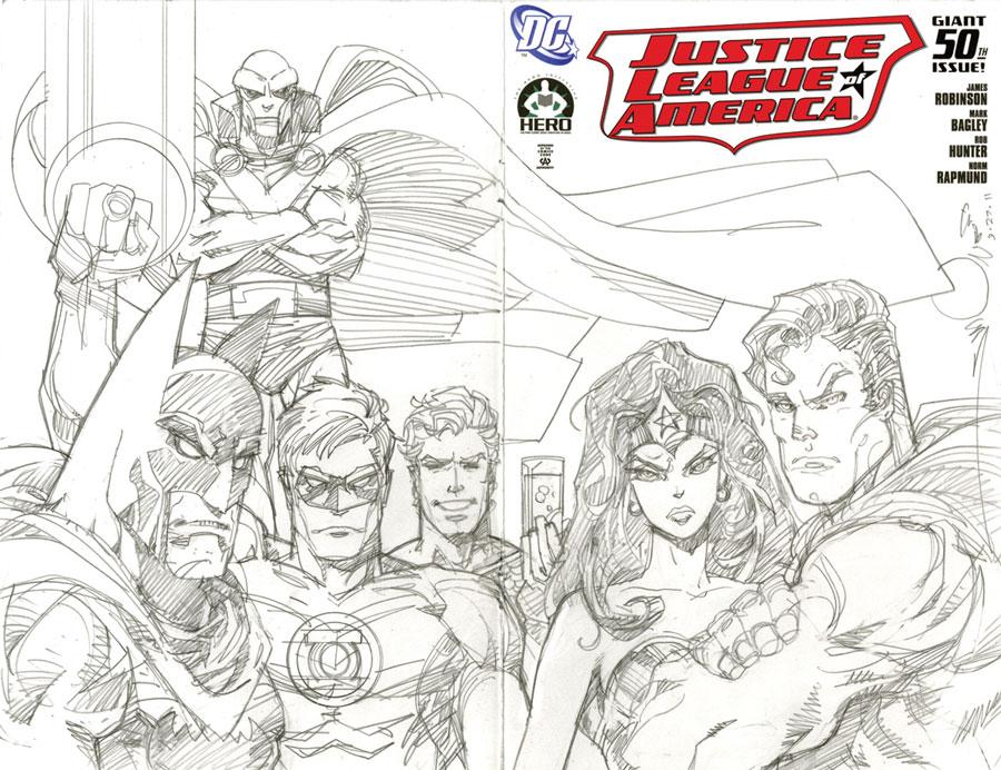 JLA #50 Cover by Walt Simonson