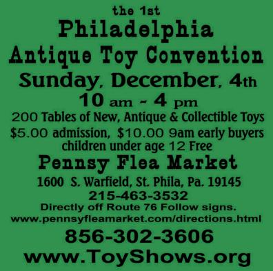 Philadelphia Antique Toy Convention Flyer