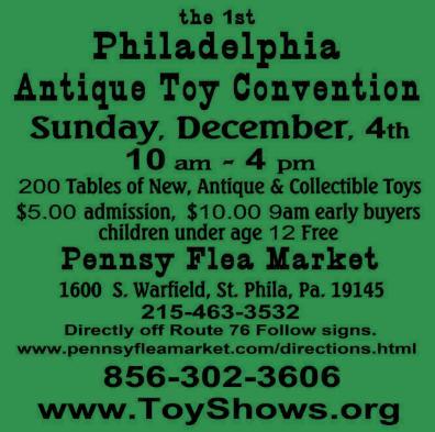 Philadelphia Antique Toy Convention Flyer