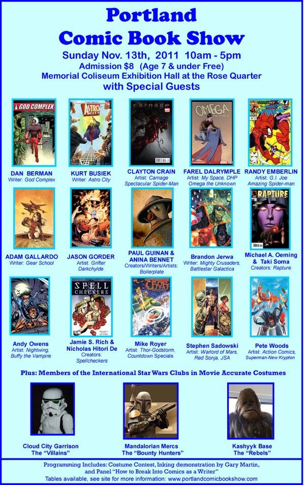 Portland Comic Book Show Poster