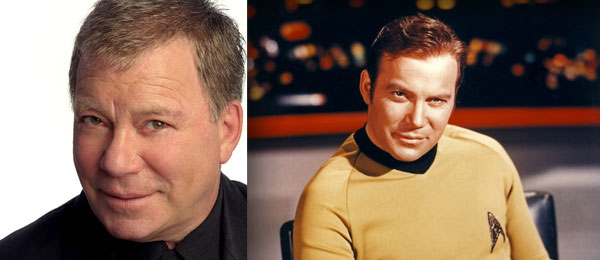 William Shatner then and now