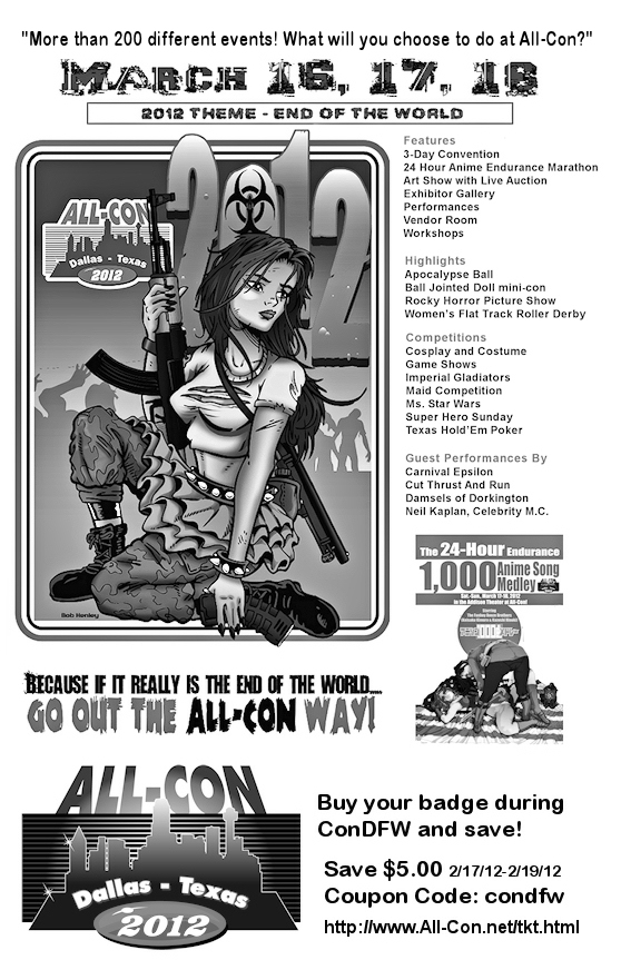 All-Con 2012 Flyer with special discount code