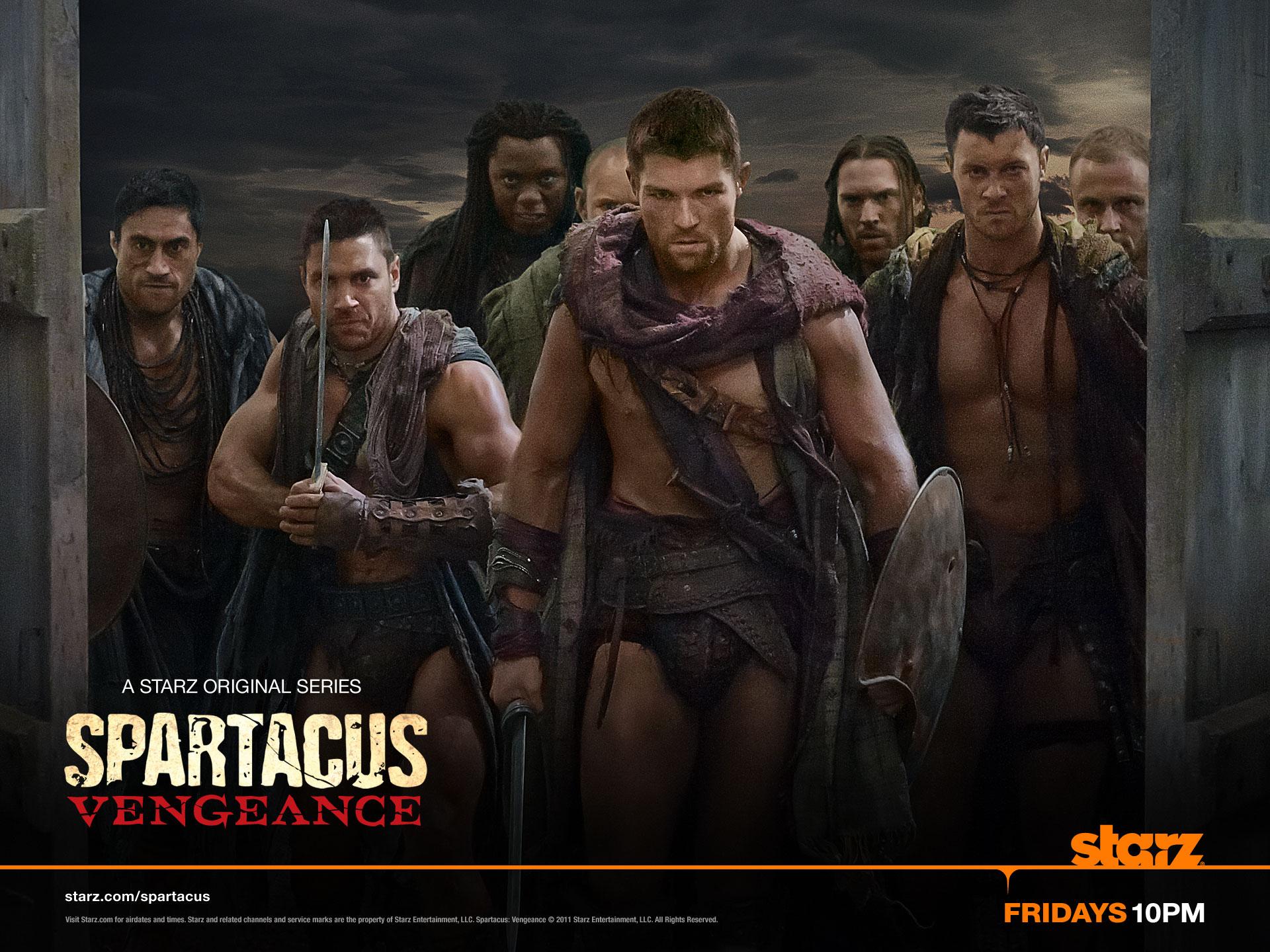 exclusive: spartacus: vengeance desktop wallpaper | convention scene