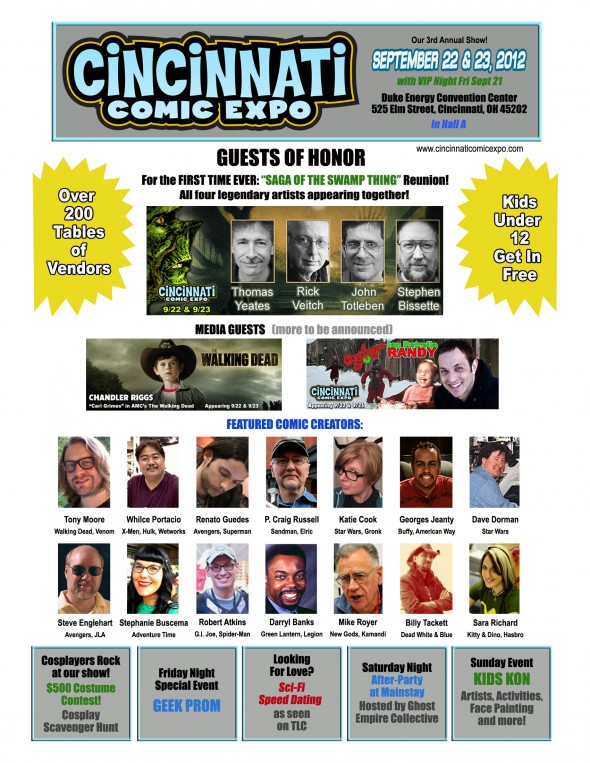 Cincinnati Comic Expo flyer