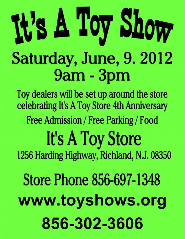 It's A Toy Show 2012 Flyer