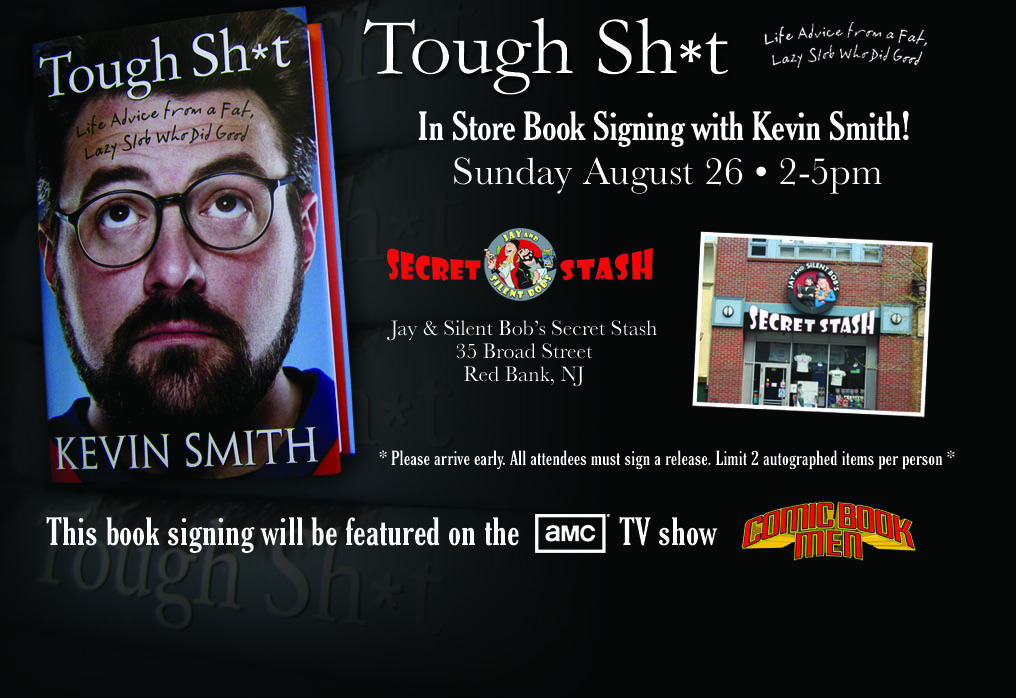 kevin smith his movies and the shop jay and silent bobs secret stash in the town red bank Kevin smith absolutely loves red bank that love was thoroughly expressed in the morning hours of saturday, august 5th, as a guinness world record attempt was celebrating the 20th anniversary of jay & silent bob's secret stash, as well as kevin smith's 47th birthday, the tandem along with the.