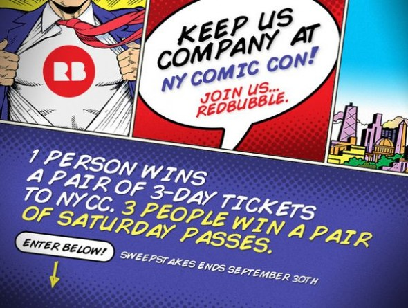 Redbubble NYCC 2012 Sweepstakes