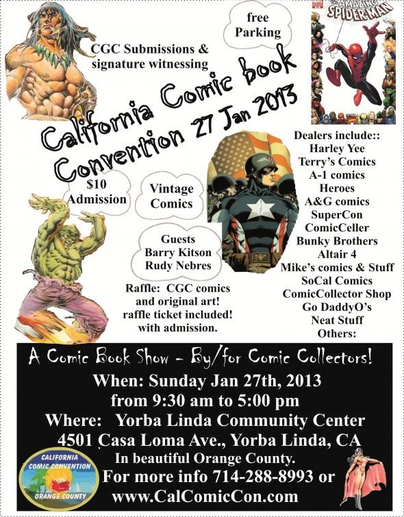 CalComicCon Flyer