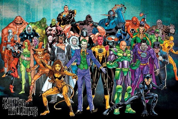 DC Super-Villains Poster