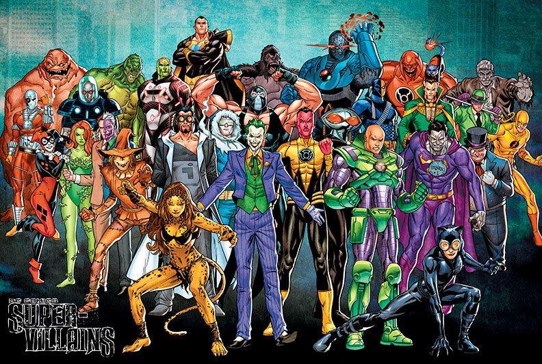 DC Super-Villains Poster