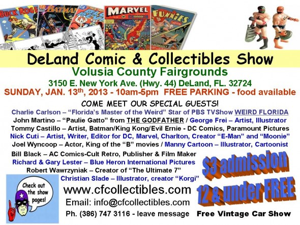 Flyer - 2013 DeLand Comic & Collectibles Show