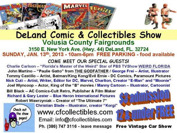 Flyer - 2013 DeLand Comic & Collectibles Show