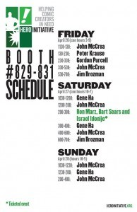 HI C2E2 2013 Booth Schedule