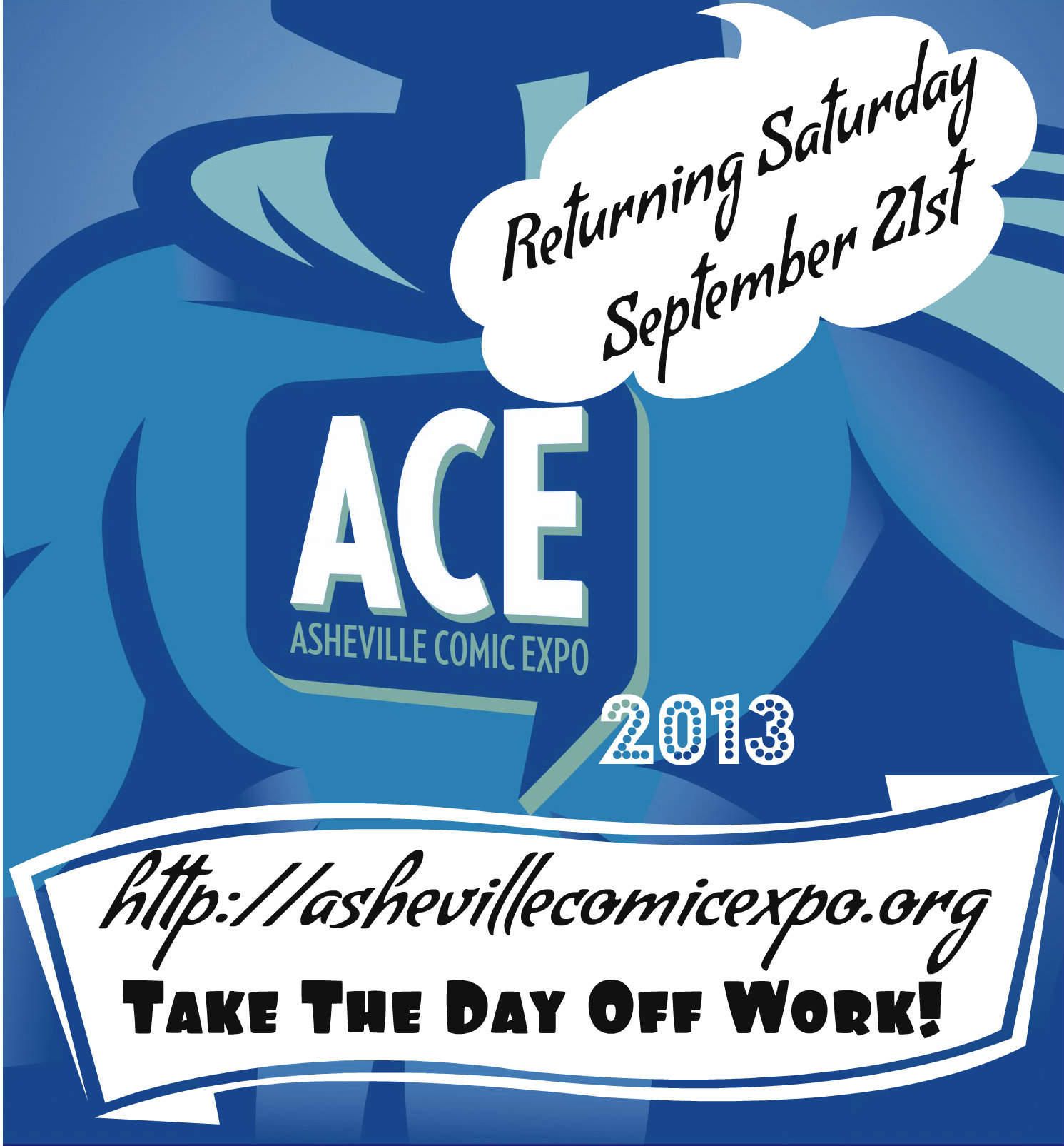 Free Comic Book Day Flyer: Asheville Comic Expo
