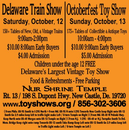 Delaware Train Show and Octoberfest Toy Show