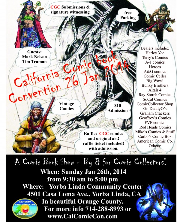 California Comic Convention Flyer