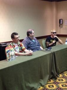 Michael Eury, Dan Johnson and Fester Faceplant lead the Tribute to Charlton Comics Panel.