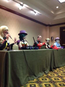 DJ Spider, Amberle Linnea, Todd Lacey, Eve Madison and Victor Goldberg lead the Secrets of Cosplay Panel.