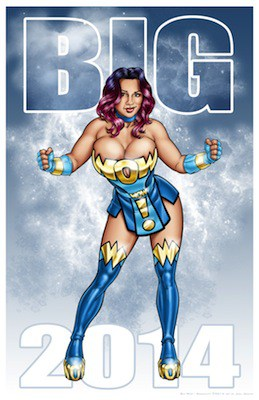 "Joel Adams - Big WOW! Doomkitty Print 11"" x 17"" print. Limited to 100, signed and numbered at $20/each. Available at Artist Table 611O"