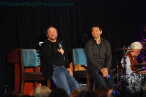 Mark Sheppard and Misha Collins at DCcon.