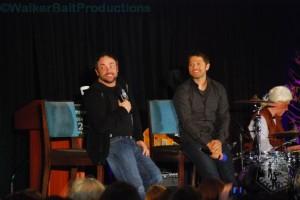 Mark Sheppard and Misha Collins at DCcon.