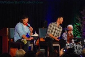 Jared Padalecki and Jensen Ackles share a laugh at DCcon.