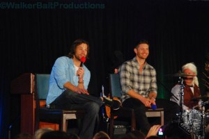 Jared Padalecki and Jensen Ackles speak to fans at DCcon.