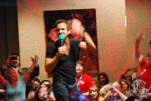 Sebastian Roche working the crowd at DCcon.