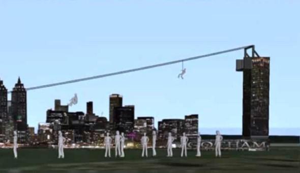 Gotham zipline