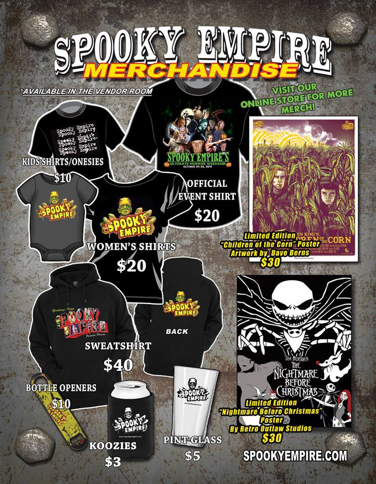 Spooky Empire Merchandise
