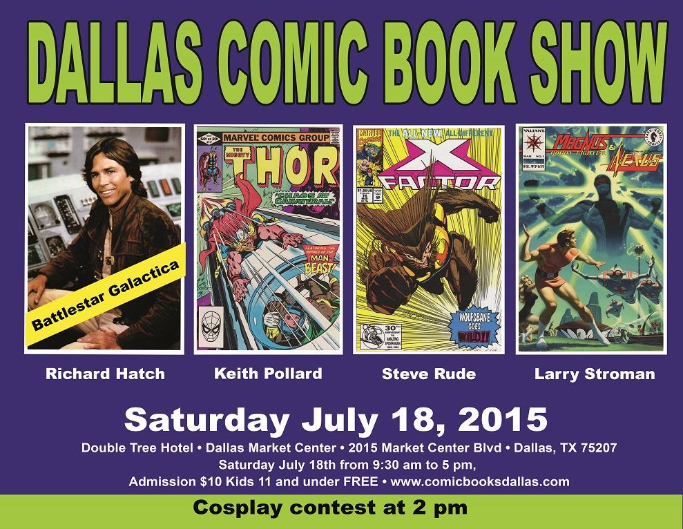 North Texas Comic Book Shows July 18th, 2015 Event