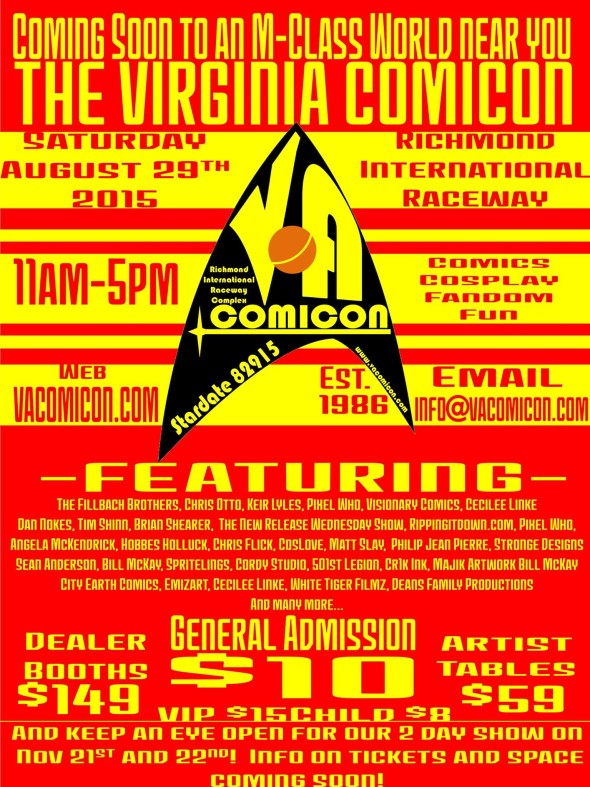 VA Comicon flyer