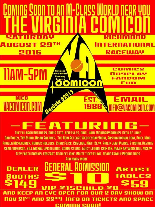 VA Comicon flyer