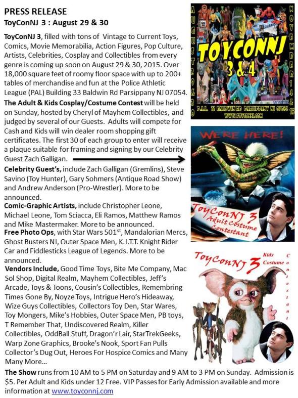 ToyCon 2015 Press Release