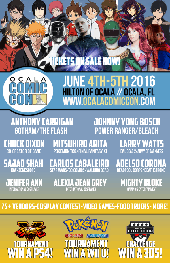 Ocala Comic Con flyer