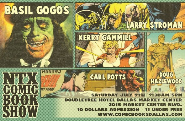 July 9th Comic Book Show in Dallas
