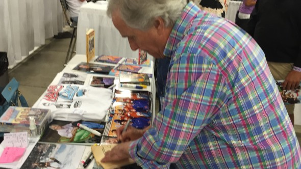 The Fonz signs something for me. Whoa!