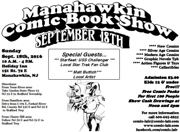 Manahawkin Comic Book Show