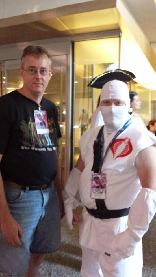 No, Storm Shadow isn't wearing a hat. Some pirate photo bombed us.