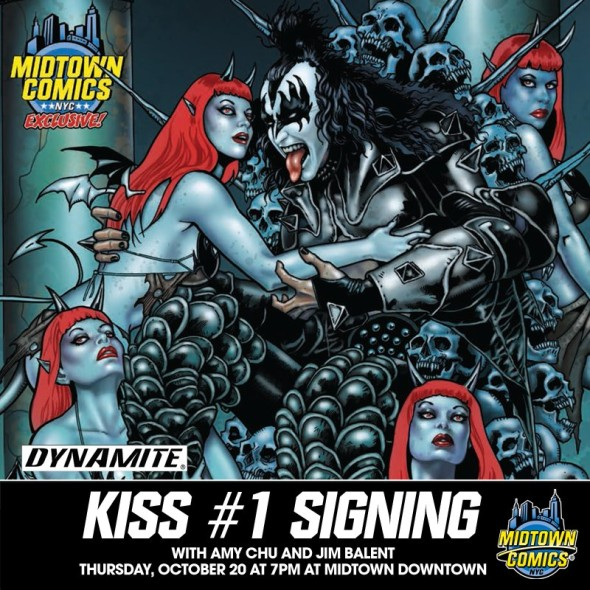 Free Comic Book Day Germany: NYC - Kiss #1 Signing