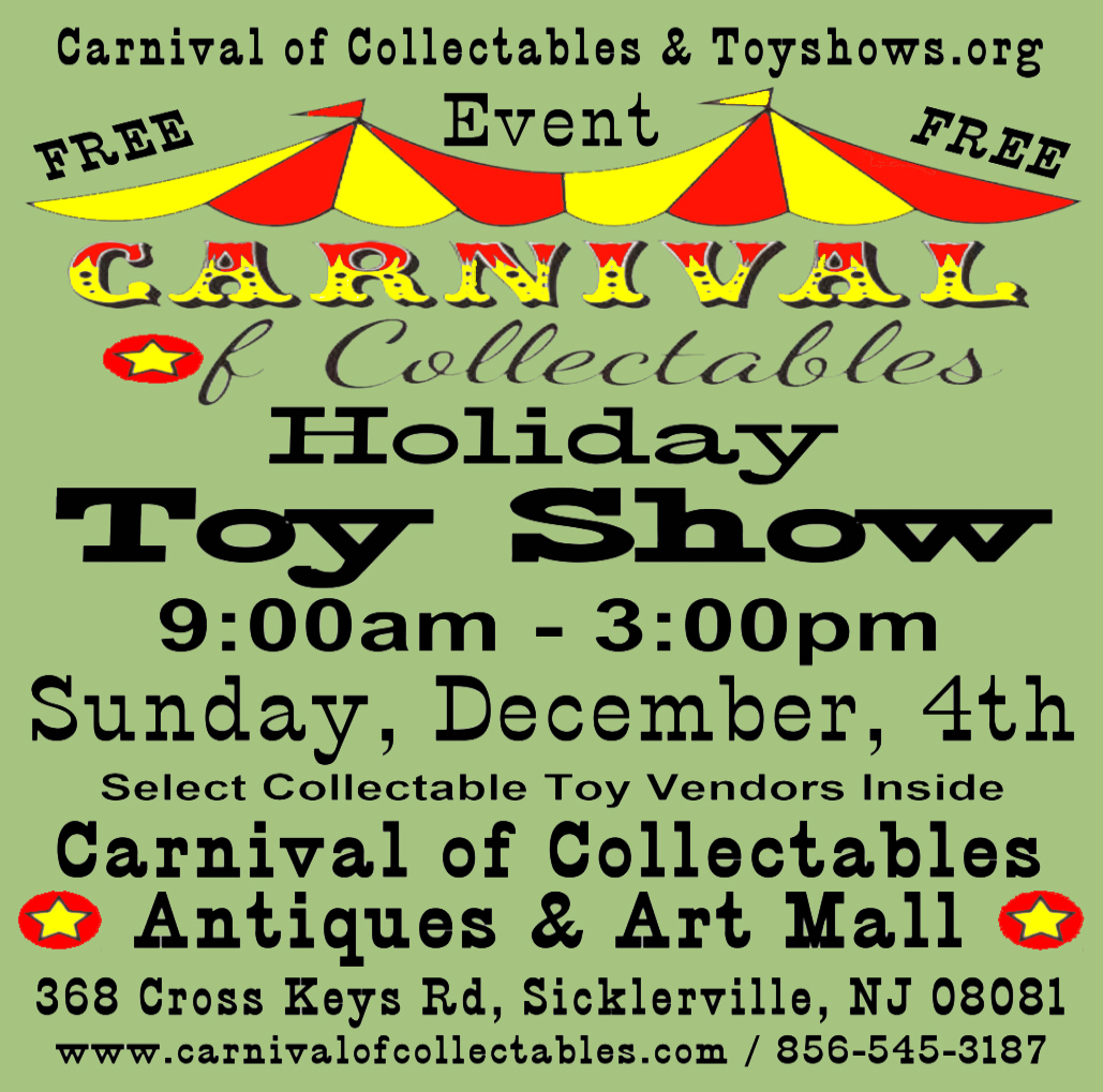 Carnival of Collectables Holiday Toy Show 2016 Flyer