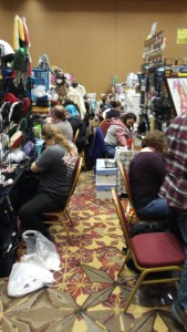 Artist alley can be a little cozy.