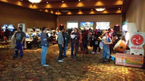 A look at the Ichibancon video game room.