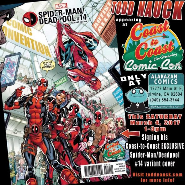 Free Comic Book Day Germany: CA - Spider-Man/Deadpool #14 Signing