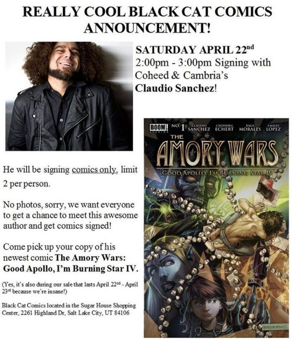 Free Comic Book Day France: UT - The Amory Wars Signing