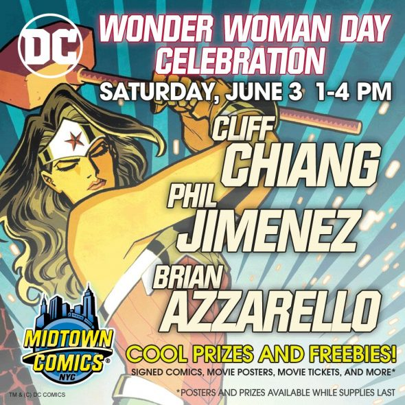 Free Comic Book Day France: NYC - Wonder Woman Day Signing