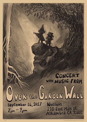 ca over the garden wall signing concert - Over The Garden Wall Poster