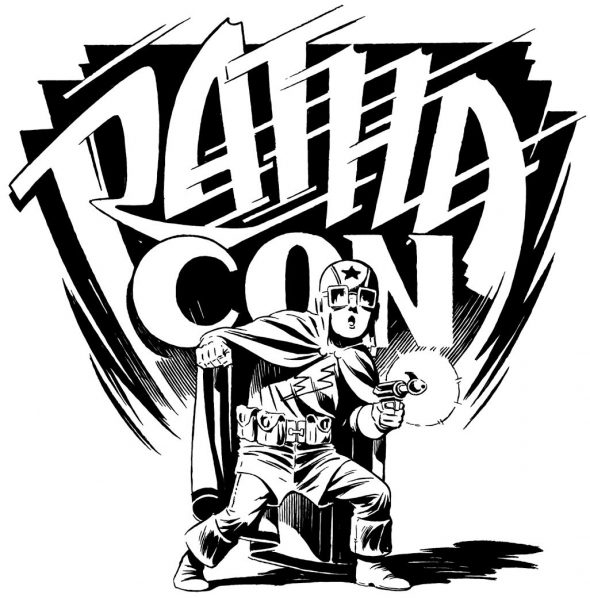 Ratha Con logo done by comic artist Sandy Plunkett