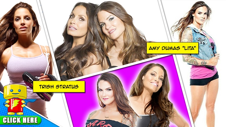 """WWE Hall of Famers Trish Stratus and Amy """"Lita"""" Dumas are"""